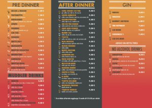 menu drink del bar gelateria oasi